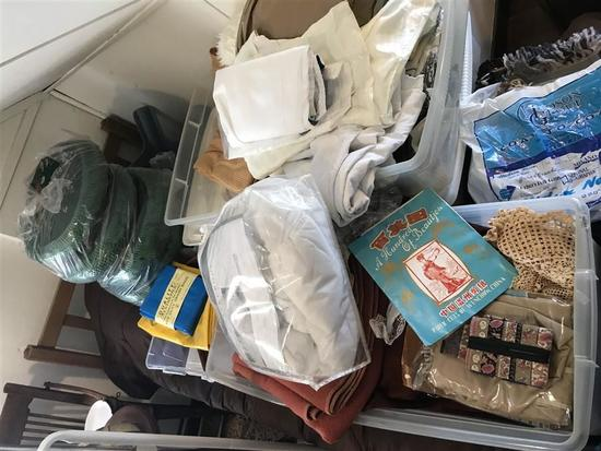 Large Lot Misc. Linens, Wool Blanket, cloth etc