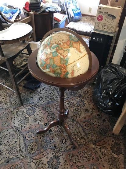 Vintage Globe w/Wooden Stand