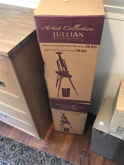 2 Nicer Vintage Jullian Easels in Boxes