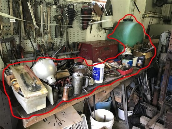 Bench Top Contents Lot Not Inc. Tool Box
