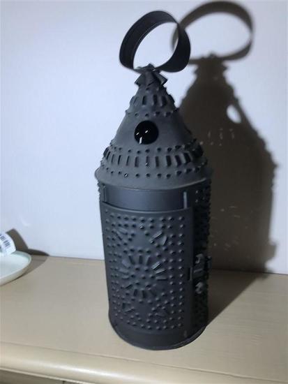 Modern Repro Punched Tin Lantern