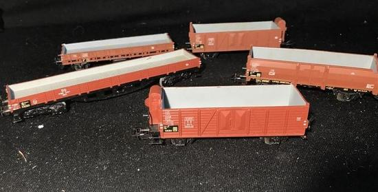 5 50's Marklin HO Model Railroad Utility Cars