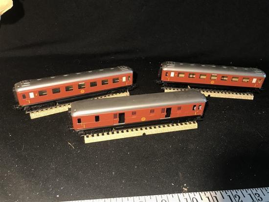 3 50's Marklin HO Model Railroad Cars Sweden SJ
