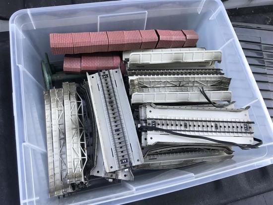 Lot HO Marklin Bridge Track Pieces Metal etc