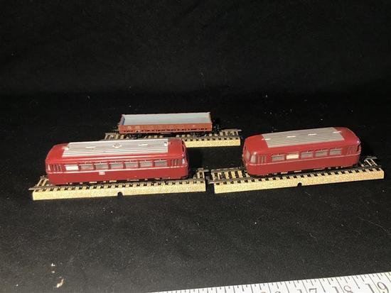 3 50's Marklin HO Model Railroad Cars - Passenger +