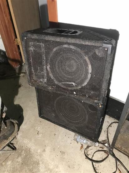 Pair of Large PA or Monitor Speakers from Barn