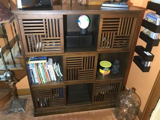 Unusual Vintage Storage Bookshelf Unit