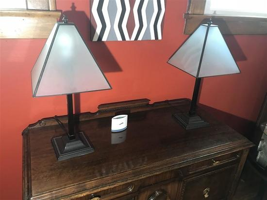 2 Nice decorative Metal Lamps