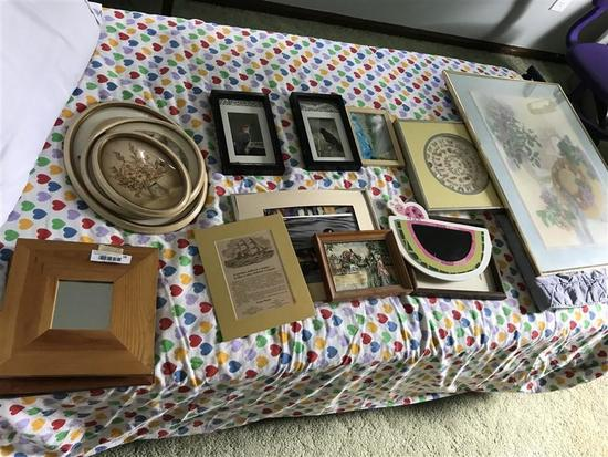 Group lot of framed pieces