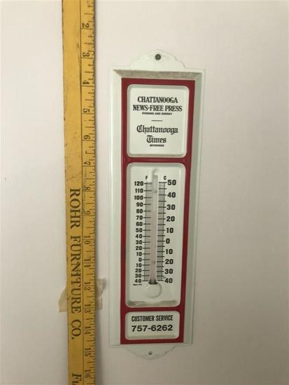 Older Chattanooga Advertising Newspaper Thermometer