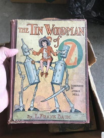 1st Edition Tin Woodman of Oz Book L Frank Baum