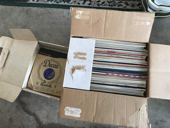 Box Lot of Early 60s Records Popular Hits & More