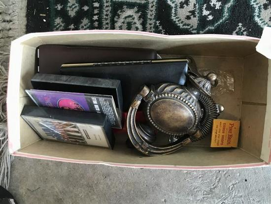 Box Misc. Items Sterling Tie Pin, Door Knocker Etc