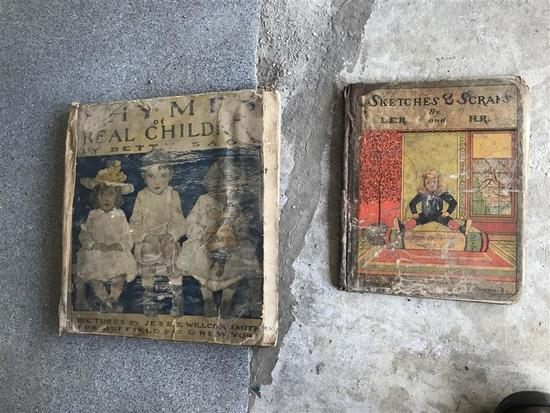 2 Early Illustrated Children's Books w/Nice Images