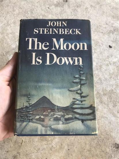 John Steinbeck The Moon is Down 1942 w/DJ Book