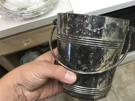 Rare Christofle Silver Plate Wine Bottle Bucket