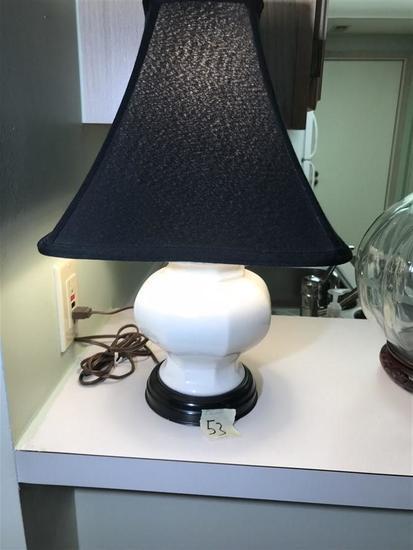 Vintage Lamp with White Ceramic Base