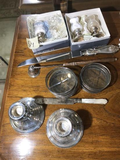 Group Sterling Silver Articles Antique & Vintage