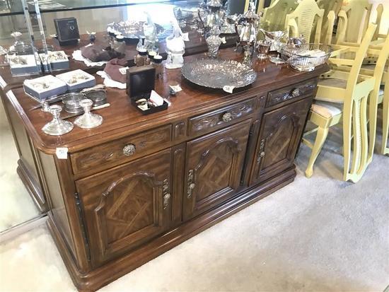 Vintage Drexel Furniture Wooden Buffet Nice