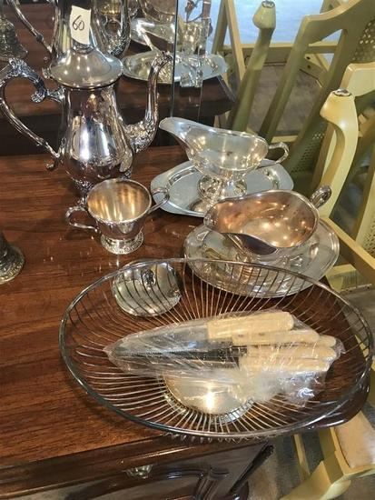 Group Lot Antique Silverplate items