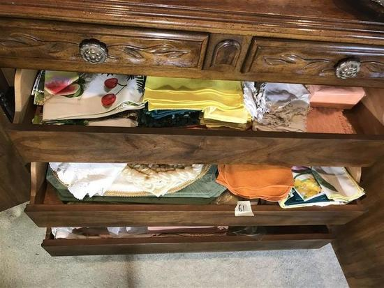 3 Drawers of Table Linens Etc Lot