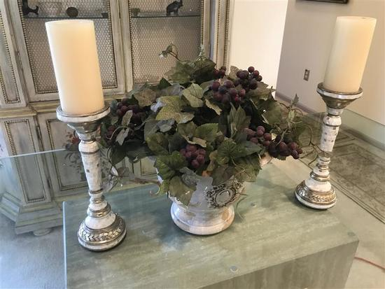 Three Decorative Table items