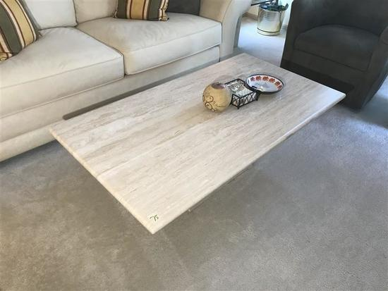 Marble Topped Table w/Marble Base