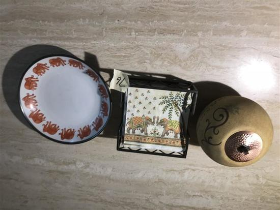 Group Lot of 3 Decorative Items