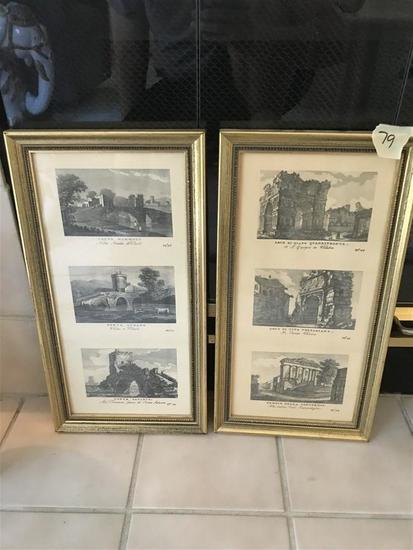 Pair of Decorative Italian Scene Framed Prints