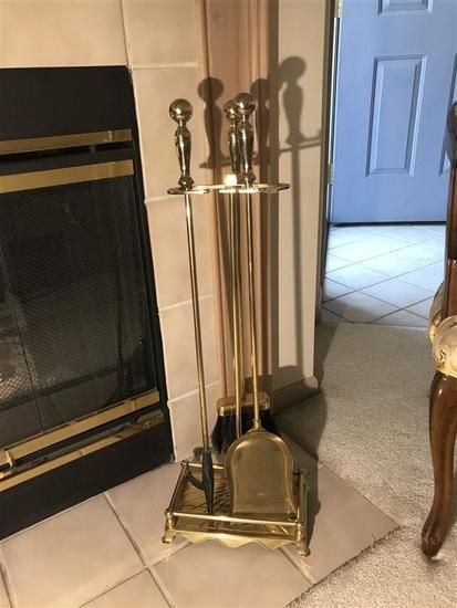 Brass Fireplace tools set