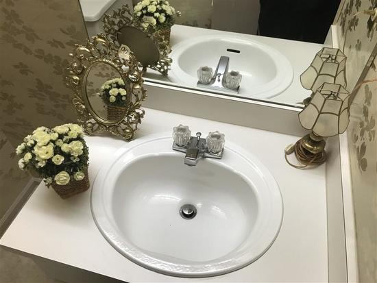 Items on Sink Lot Including Elaborate Mirror