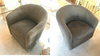 Pair of Nice Swivel Base Living Room Chairs