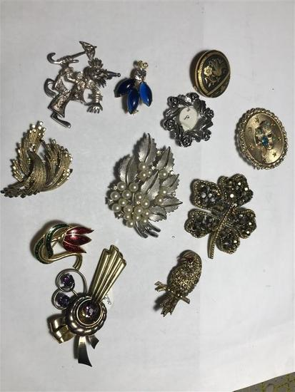 Group Lot Better Vintage Costume Jewelry Many Signed