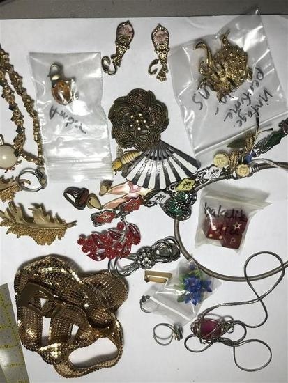 Group Lot Vintage Costume Jewelry