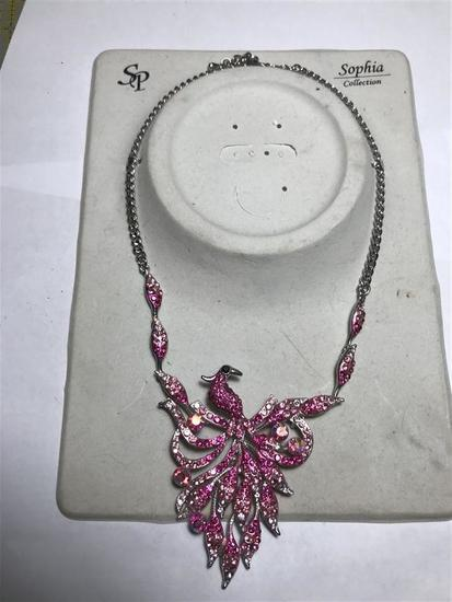 Vintage SP Sophia Collection Pink Rhinestone Costume Jewelry