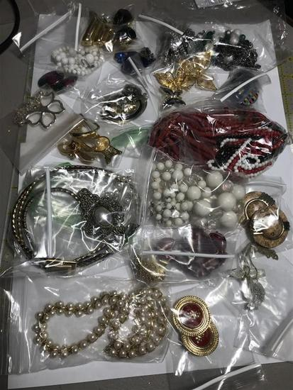 Group Lot of Vintage jewelry - Bagged and Sorted