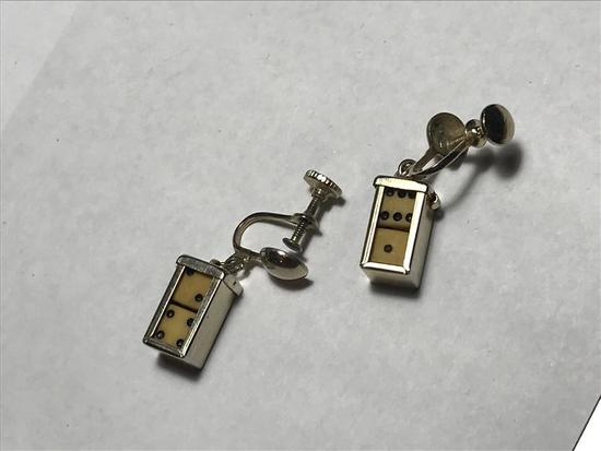 Pair of Vintage Dice Earrings w/Removable Dice