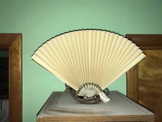Vintage Brass Fan Light Lamp