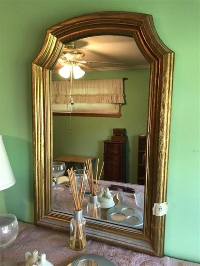 Vintage gold toned mirror