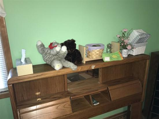 Group Lot of items on Headboard