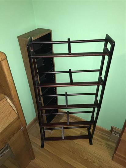 Vintage Wooden Shoe Rack + CD stand