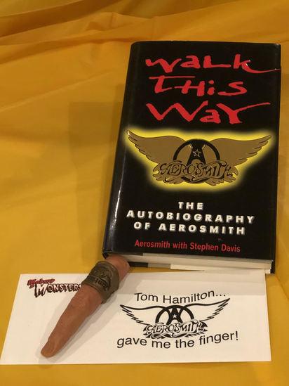Aerosmith Signed Book + Joe Perry Finger