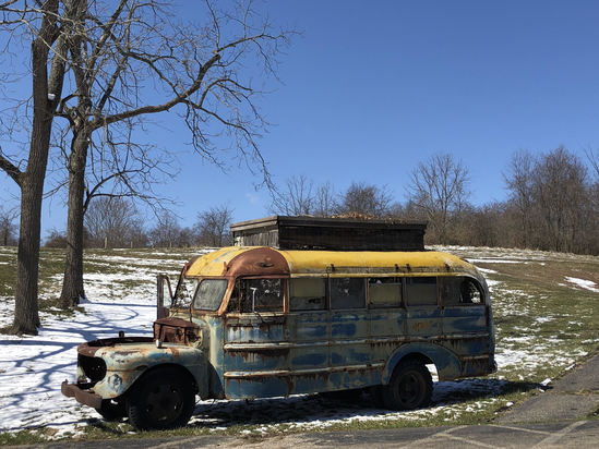 """Overnight stay in the """"Twisty"""" bus used on set of AHS:Freak Show"""