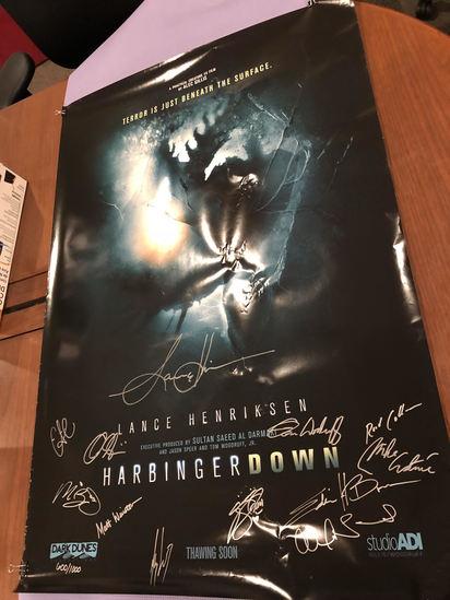 Signed Harbinger Down movie poster