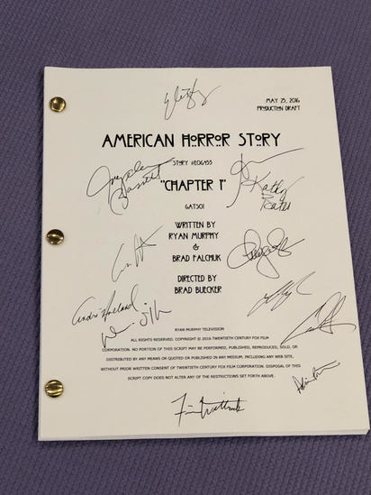 American Horror Story Script Signed by Cast