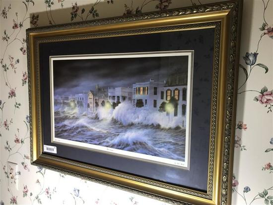 Framed Charleston SC print by Jim Booth The Storm