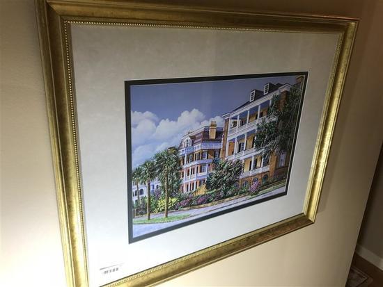 Framed Signed Print Gordon Wheeler Charleston SC