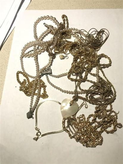 Group Lot of Jewelry Chains