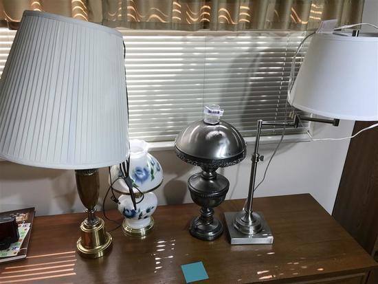 Group Lot of 4 Lamps Inc. Fancy Vintage
