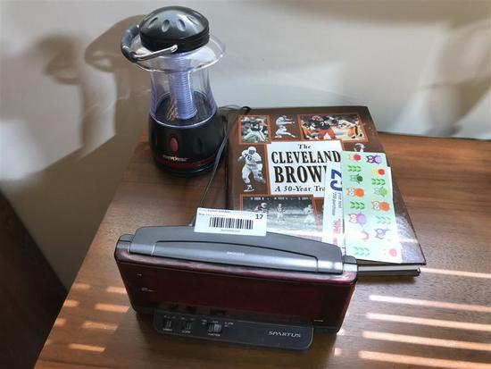 Cleveland Browns Book, Lantern, Clock etc